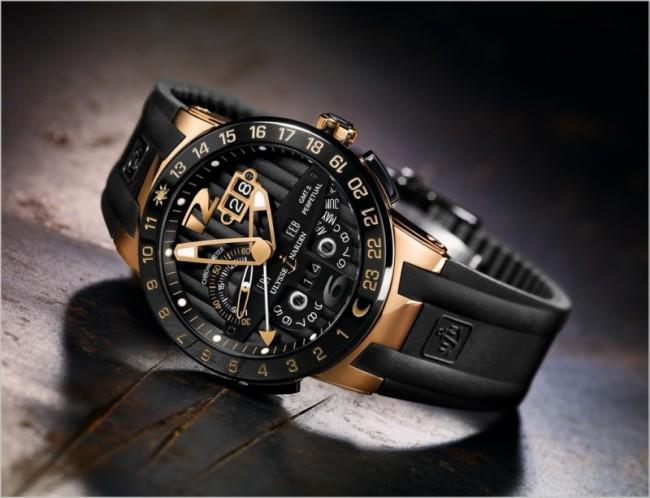 Un orologio sportivo della linea Ulysse Nardin