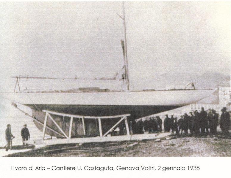 Il varo di Aria a Costaguta nel 1935