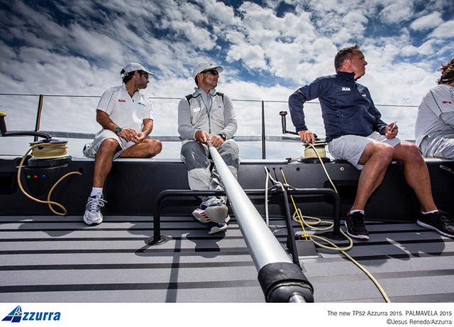 A bordo di Azzurra. Foto Renedo