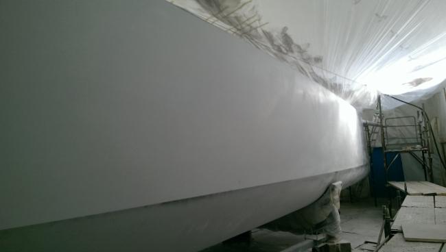 Lo scafo di Team Vestas è stato ricostruito al 100%. Foto Persico Marine