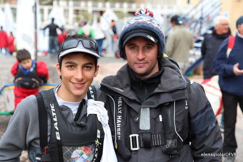 Riccardo Sepe con il suo allenatore. Foto Giolai