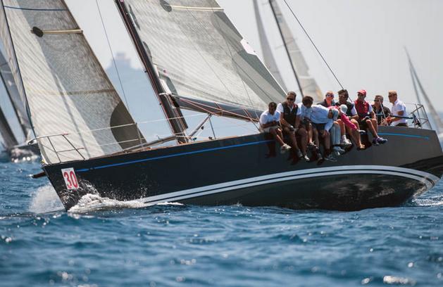 Una fase del Trofeo Bruno Calandriello per squadre di yacht club. Foto Taccola
