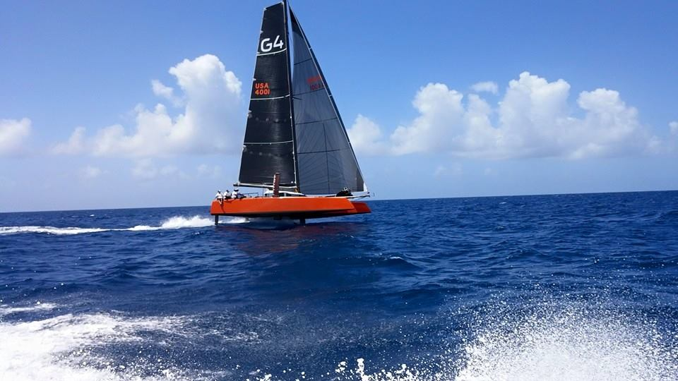 Il Gunboat G4 in foiling