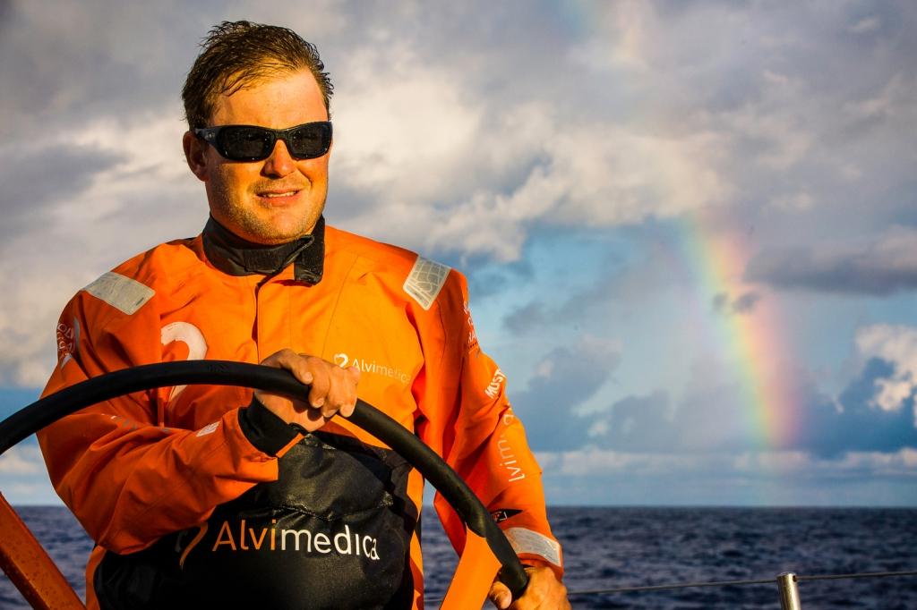 Ryan Houston al timone di Alvimedica. Foto Ross