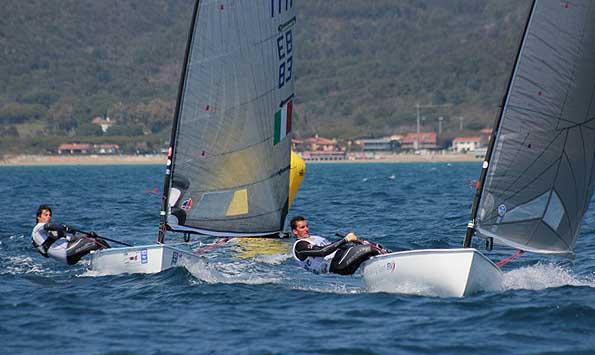 Enrivo Voltolini precede Matteo Savio nella quinta prova. Netto il vantaggio dei due sugli altri. Foto Wenk