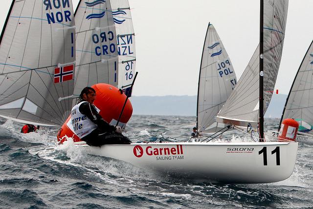 Giorgio Poggi in regata a Spalato. Foto Deaves