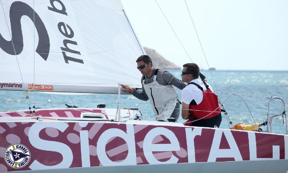 Sideral con Andrea Fornaro alla Round Sardinia. Foto Marci