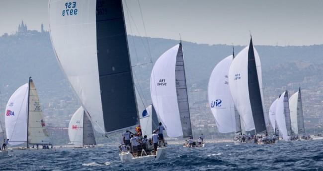 In regata a Barcellona durante il Mondiale ORC