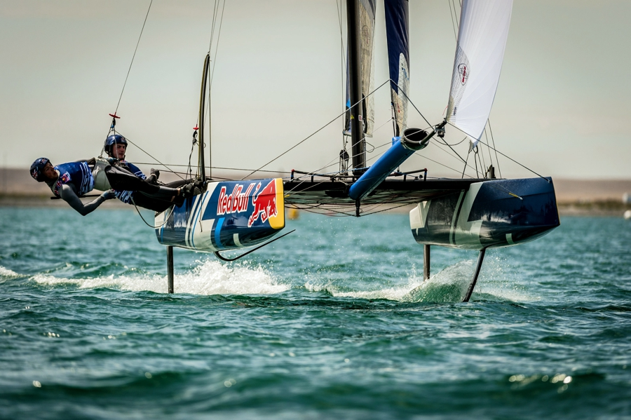 Il Flying Phantom durante la tappa di Portsmouth. Foto Red Bull