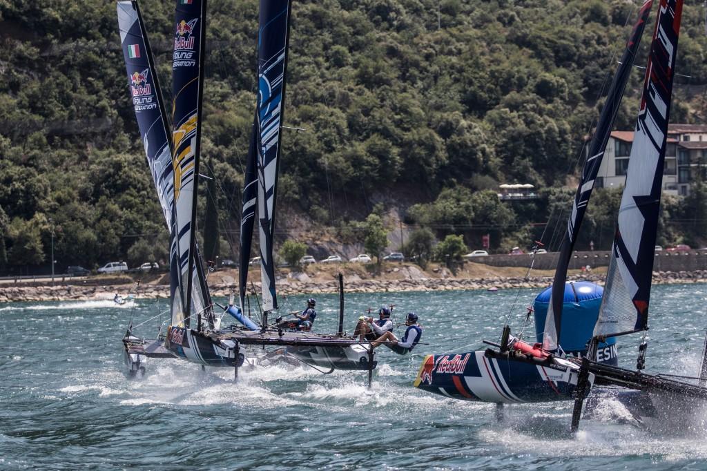 Una fase della regata finale. Foto Mozew/Red Bull